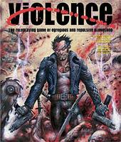 Cover art 'Violence' - 'De RPG van monsterlijk en weerzinwekkend bloedvergieten'
