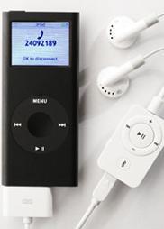 myBlu-headset voor iPod