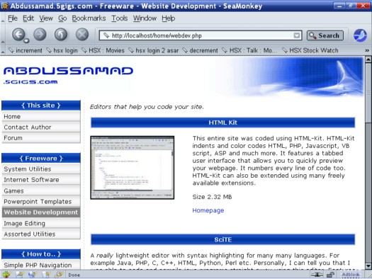 Mozilla SeaMonkey screenshot (resized)
