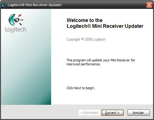 Logitech firmware update for desktop mini receiver