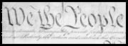 Eerste woorden van de Amerikaanse grondwet