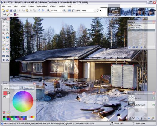 Paint.NET 3.0 RC1 screenshot (resized)