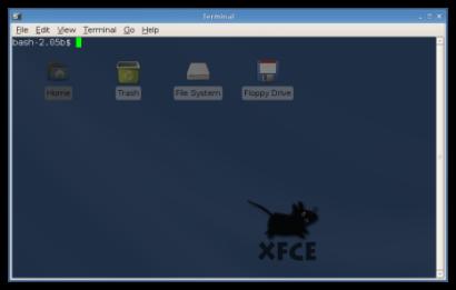 Xfce 4.4 - Terminal met transparantie