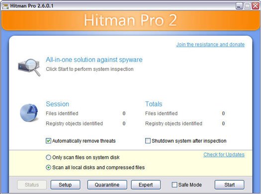 Hitman Pro 2.6.0.1 scrrenshot (resized)