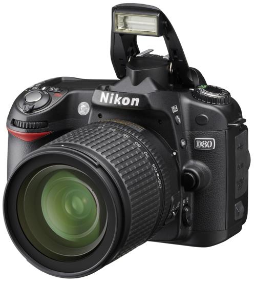 Nikon D80 met flitser