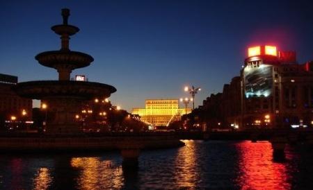 Centrum van Boekarest bij zonsopkomst