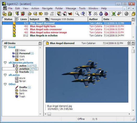 Forté Agent 4.2 screenshot (resized)