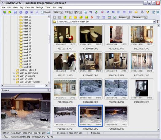 FastStone Image Viewer 3.0 beta 2 screenshot (resized)