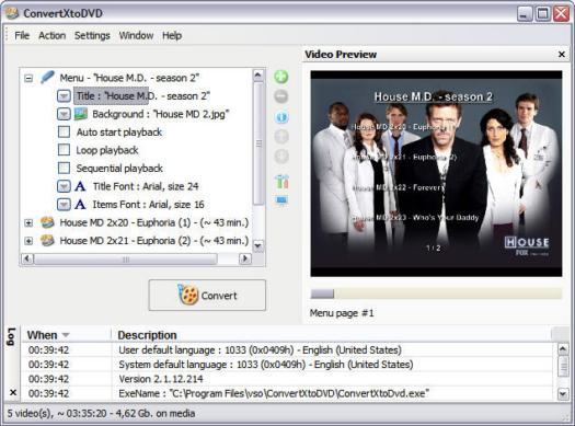 ConvertXtoDVD 2.1.12.214 screenshot (resized)