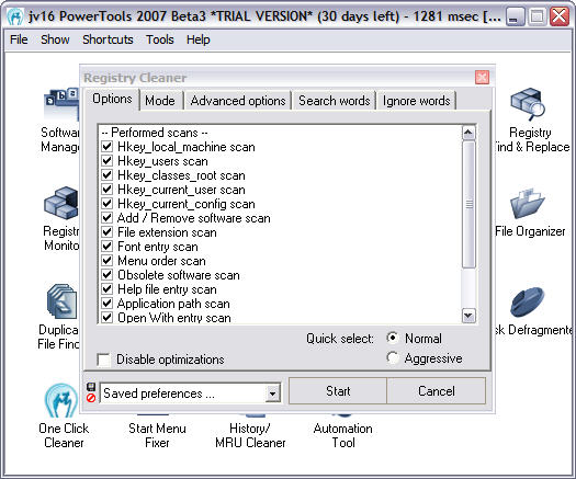 jv16 PowerTools 2007 1.7.0.361 beta 3 screenshot (resized)