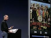 Steve Jobs met Beatles-plaatje