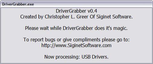 DriverGrabber 0.4 beta screenshot