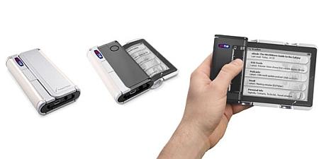 Cellular Book met oprolbaar scherm