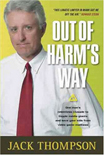 Jack Thompson - boekomslag 'Out Of Harm's Way'