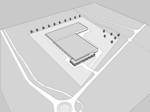 Schets van het nieuwe datacentrum in de Eemshaven