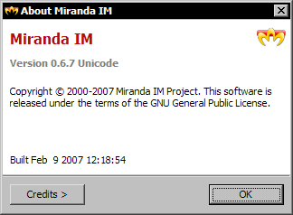 Miranda IM 0.6.7 - about
