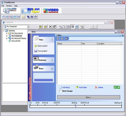 FinalBurner 1.11.0.80 screenshot (resized)