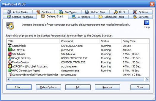 WinPatrol 2007 screenshot (resized)