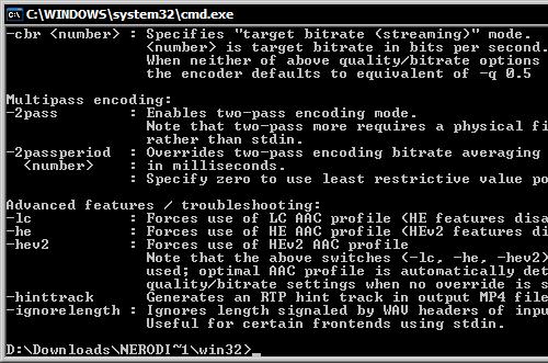 Nero Digital Audio MPEG-4 & 3GPP Codec 1.0.7.0