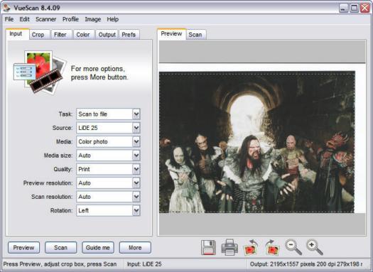 VueScan 8.4.09 screenshot (resized)