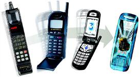 Vier generaties mobieltjes