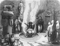 Orakel van Delphi aan het werk