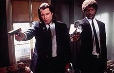 John Travolta en Samuel Jackson in 'Pulp Fiction'