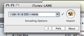 iTunes-LAME: LAME MP3 encoder for OS X