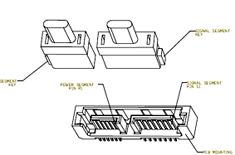 Sata 2.6 slimline-kabels en -pluggen