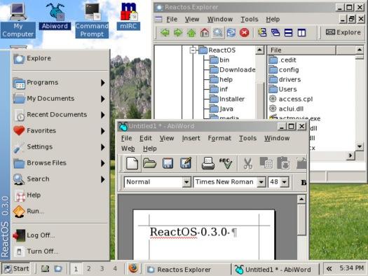 ReactOS 0.3.0 screenshot (resized)