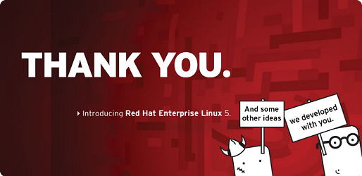 Red Hat Enterprise Linux 5 - thank you