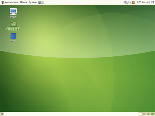 Gnome 2.18 - desktop (klein)