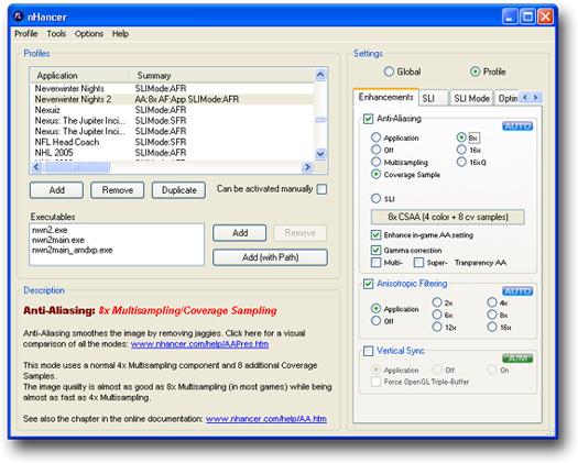 nHancer 2.2.1 screenshot (resezed)