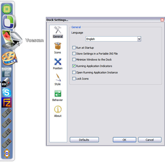 RocketDock 1.3.1 screenshot (resized)
