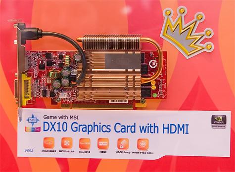 CeBIT 2007: MSI DX10 videokaart met HDMI en passieve koeling