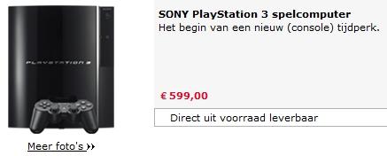 Playstation 3 op voorraad