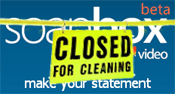 Microsoft Soapbox - 'closed for cleaning'
