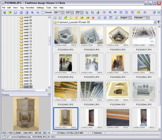 FastStone Image Viewer 3.1 beta 1 screenshot (resized)