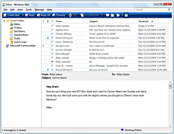 Windows Mail screenshotje