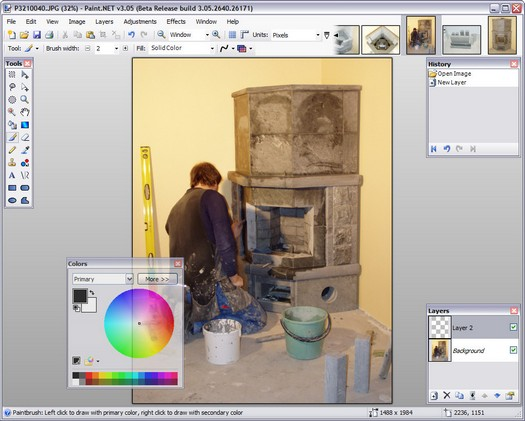 Paint.NET 3.05 beta screenshot (resized)