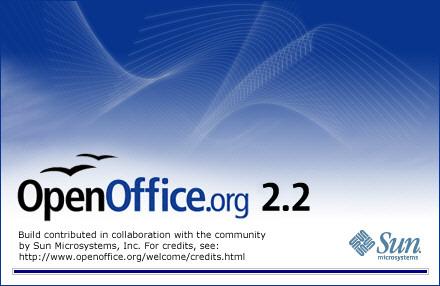 OpenOffice.org 2.2.0 welkomsscherm