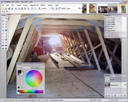 Paint.NET 3.05 screenshot (resized)