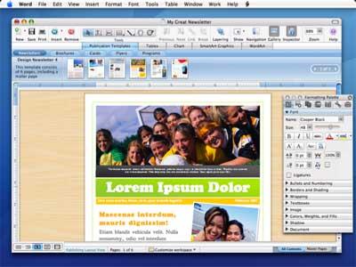 Office 2008 for Mac -- DTP-functies
