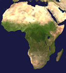 Satellietfoto van Afrika