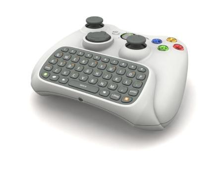 Toetsenbord voor de Xbox 360 (schuin aanzicht) (kleiner)