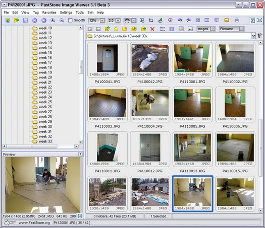 FastStone Image Viewer 3.1 beta 3 screenshot (resized)