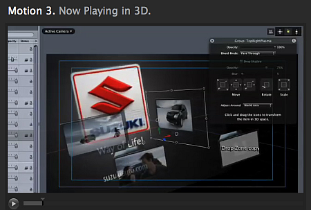 Final Cut Studio Motion 3 3D