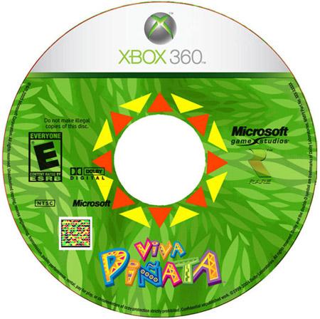 Xbox 360 Viva Pinata dvd met gekleurde streepjescode