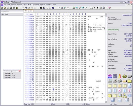 Software-update: WinHex 14 0 - Computer - Downloads - Tweakers