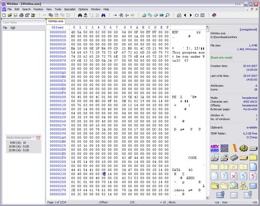 WinHex 14.0 screenshot (resized)